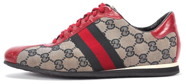 GUCCI Red Beige Logo Sneakers