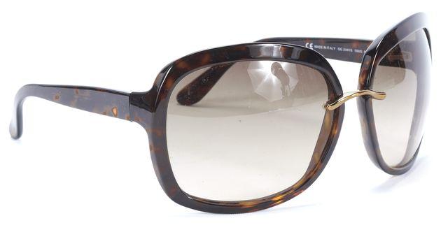 GUCCI Brown Tortoise Round Sunglasses