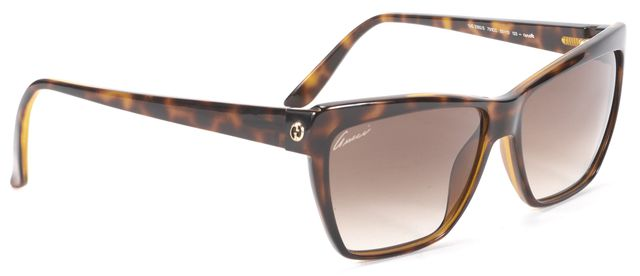 GUCCI Brown Tortoise Square Sunglasses