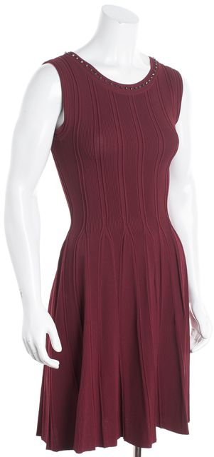 GUCCI Red Sleeveless Fit & Flare Dress