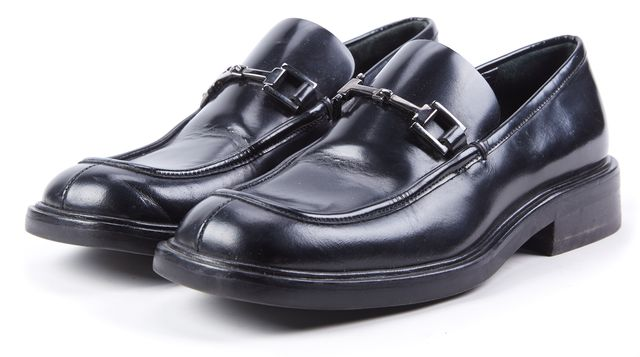 GUCCI Black Leather Chunky Loafers