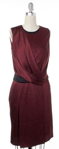 HELMUT LANG Burgundy Red Draped Sheath Dress Size 0
