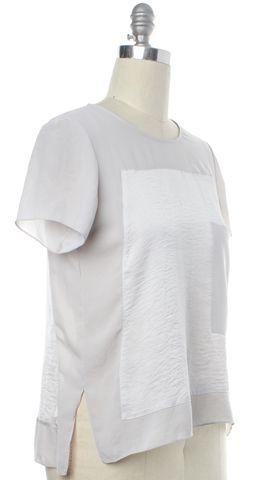 HELMUT LANG Gray Sheer Basic Tee Top Size P US XS