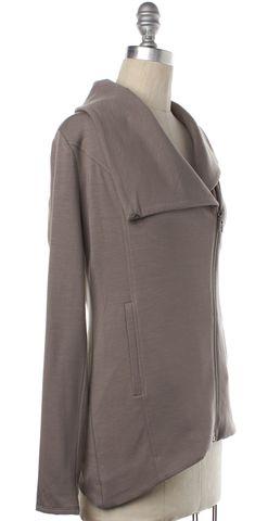 HELMUT LANG NEW NWT $230 Gray Zip Up Sweatshirt Jacket Size P