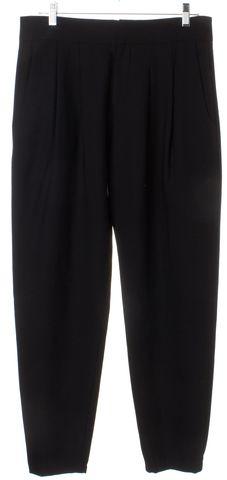 HELMUT LANG Black Wool Dress Pants Size 6