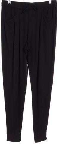 HELMUT LANG Black Jersey High Waist Drawstring Casual Loungewear Pants Size S