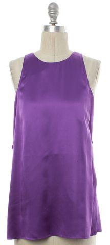 HELMUT LANG Purple Silk Sleeveless Top Size S