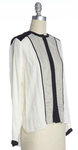 HELMUT LANG Ivory Black Button Down Shirt Size P