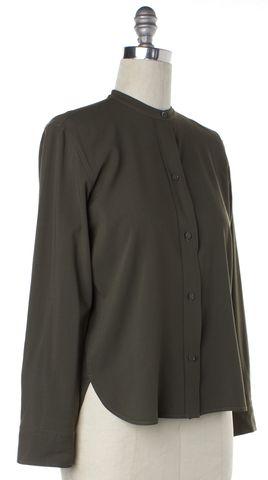 HELMUT LANG Green Button Down Shirt Top Size L