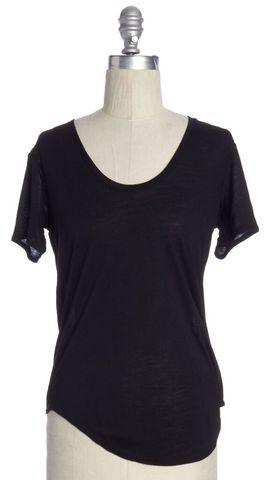 HELMUT LANG Black Scoop Neck T-Shirt Size P