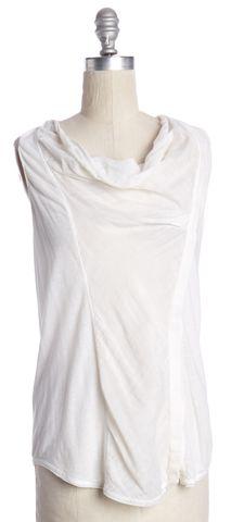 HELMUT LANG Ivory Razor Back Sleeveless Top Size P