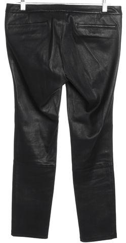 HELMUT LANG Black Leather Skinny Trouser Pants Size 4
