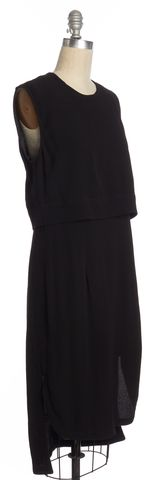 HELMUT LANG Black Sleeveless Sheath Dress Size 4