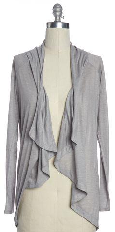 HELMUT LANG Gray Open Long Sleeve Cardigan Size M