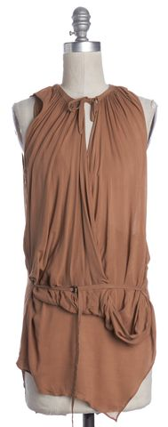 HELMUT LANG Beige Sleeveless Top Size P