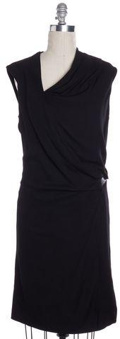 HELMUT LANG Black Draped Sheath Dress Size 10