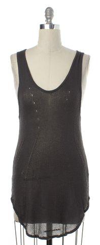 HELMUT LANG Gray Knit Tank Top Size L
