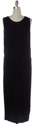 HELMUT LANG Black High Slit Layered Maxi Dress Size S