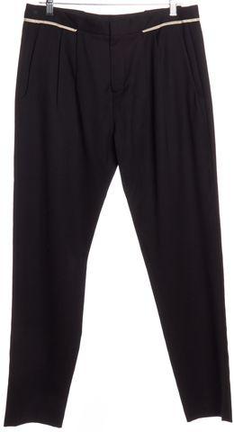HELMUT LANG Black Wool Pleated Dress Pants Size 6