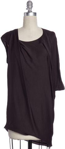 HELMUT LANG Purple Asymmetric Drape Blouse Size P