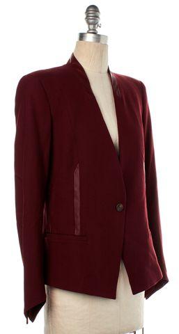 HELMUT LANG Cranberry Red Blazer Jacket Size 4