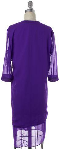 HELMUT LANG Purple Silk Button Down Shirt Dress Size S
