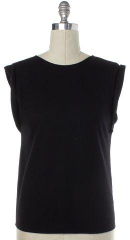 HELMUT LANG Black Wool Sleeveless Knit Top Size S