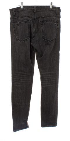 HELMUT LANG Black Distressed Ankle Skinny Jeans Size 29