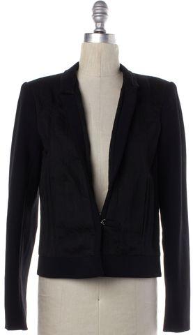 HELMUT LANG Black Hook Eye Closure Blazer Jacket Size 4