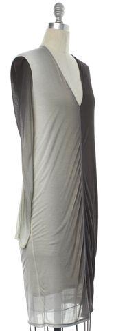 HELMUT LANG NEW Gray Gradient Sheath Dress Size P