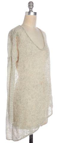 HELMUT LANG Beige Open Knit Knit Top Size S