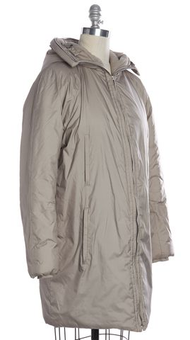 HELMUT LANG Taupe Beige Puffer Coat Size M