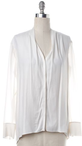 HELMUT LANG White Long Sleeve Button Down Shirt Top