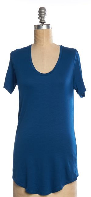 HELMUT LANG Blue Basic T-Shirt