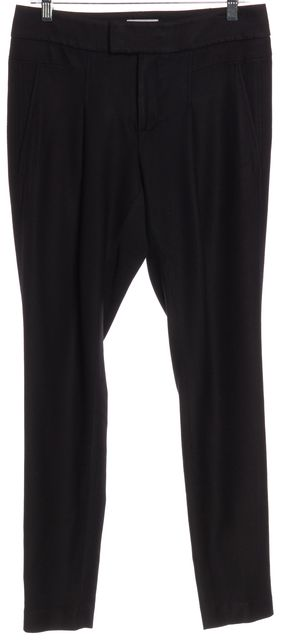 HELMUT LANG Black Ribbed Casual Pants
