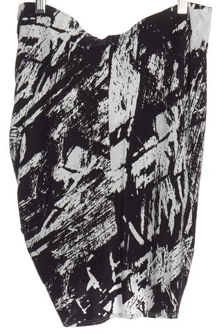 HELMUT LANG Black Abstract Drape Stretch Knit Skirt