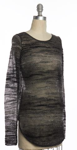 HELMUT LANG Gray Knit Boat Neck Sweater