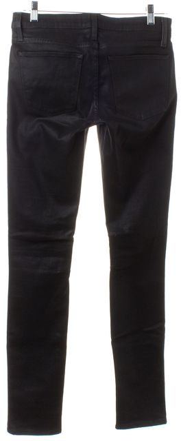 HELMUT LANG Black Coated Denim Skinny Jeans