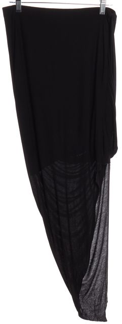 HELMUT LANG Black Asymmetrical Draped Skirt