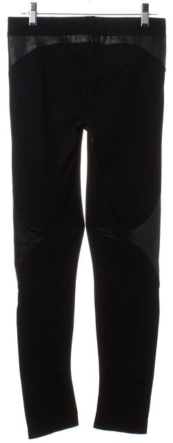 HELMUT LANG Black Ponte Leather Panel Leggings