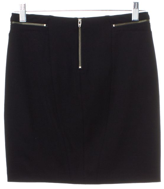 HELMUT LANG Black Wool Mini Skirt