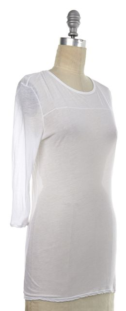 HELMUT LANG White Semi-Sheer Cotton T-Shirt