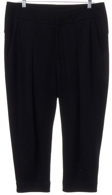 HELMUT LANG Black Wool Cropped Pants
