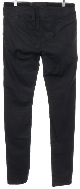HELMUT LANG Gray Coated Denim Leggings Pants