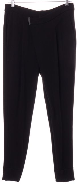 HELMUT LANG Black Modal Draped Pants