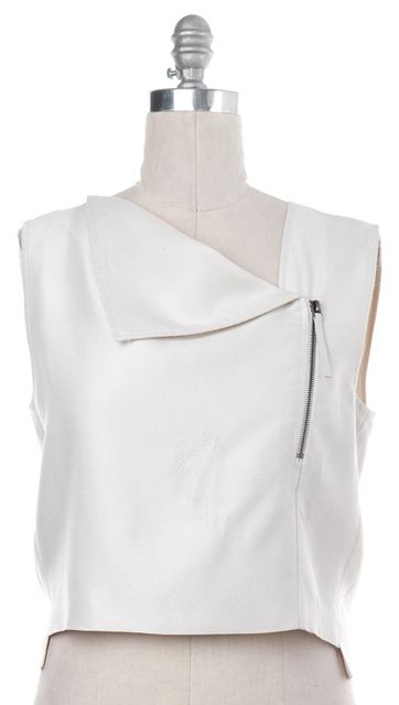 HELMUT LANG White Zip Up Top