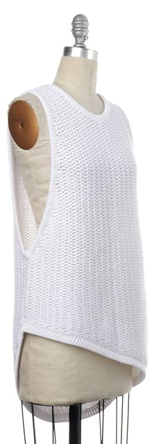 HELMUT LANG White Sleeveless Pullover Sweater