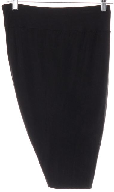HELMUT LANG Black Draped Mini Skirt