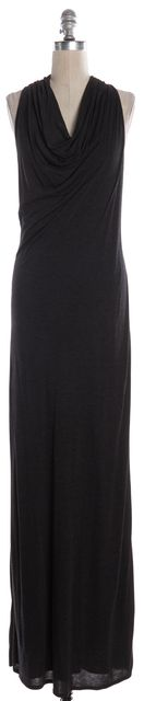 HELMUT LANG Charcoal Gray Cowl Neck Sleeveless Maxi Dress