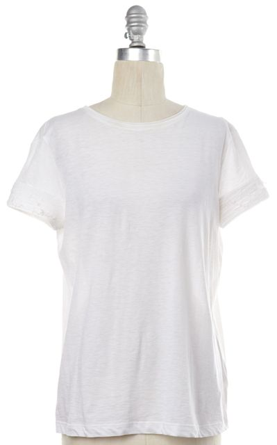 HELMUT LANG White Basic Tee Top